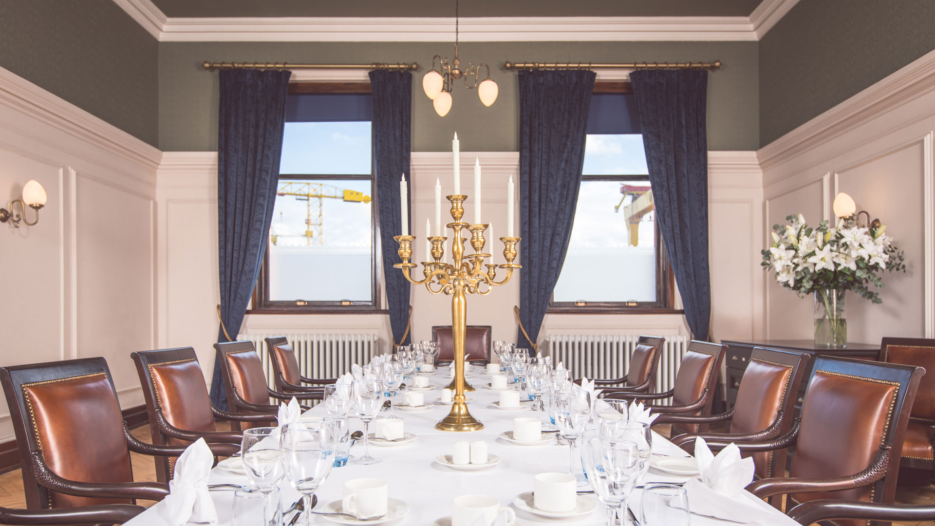 Our lights illuminate the iconic Titanic Hotel Belfast