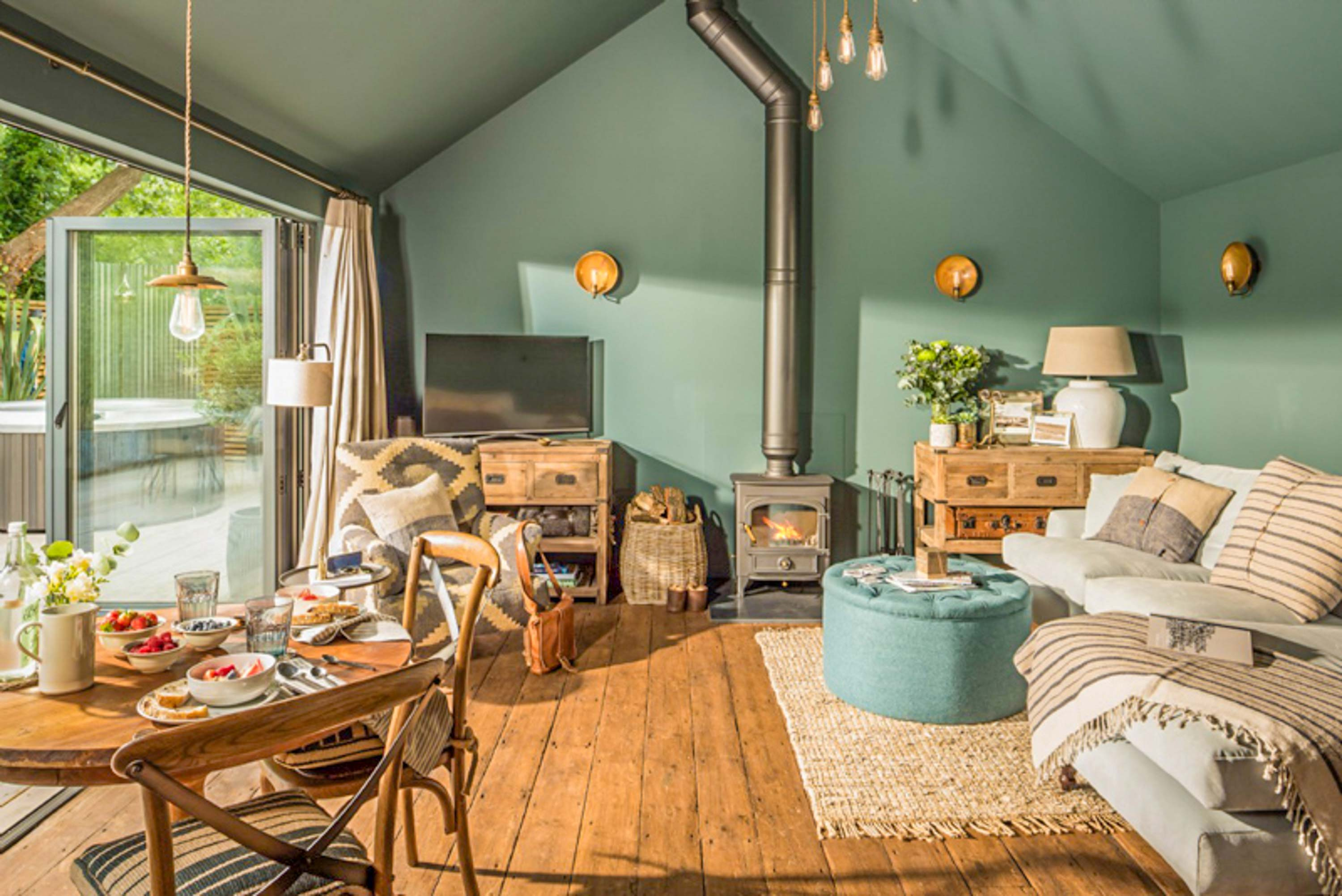 Charming Hampshire Getaway Hosts Our Industrial Light Fixtures