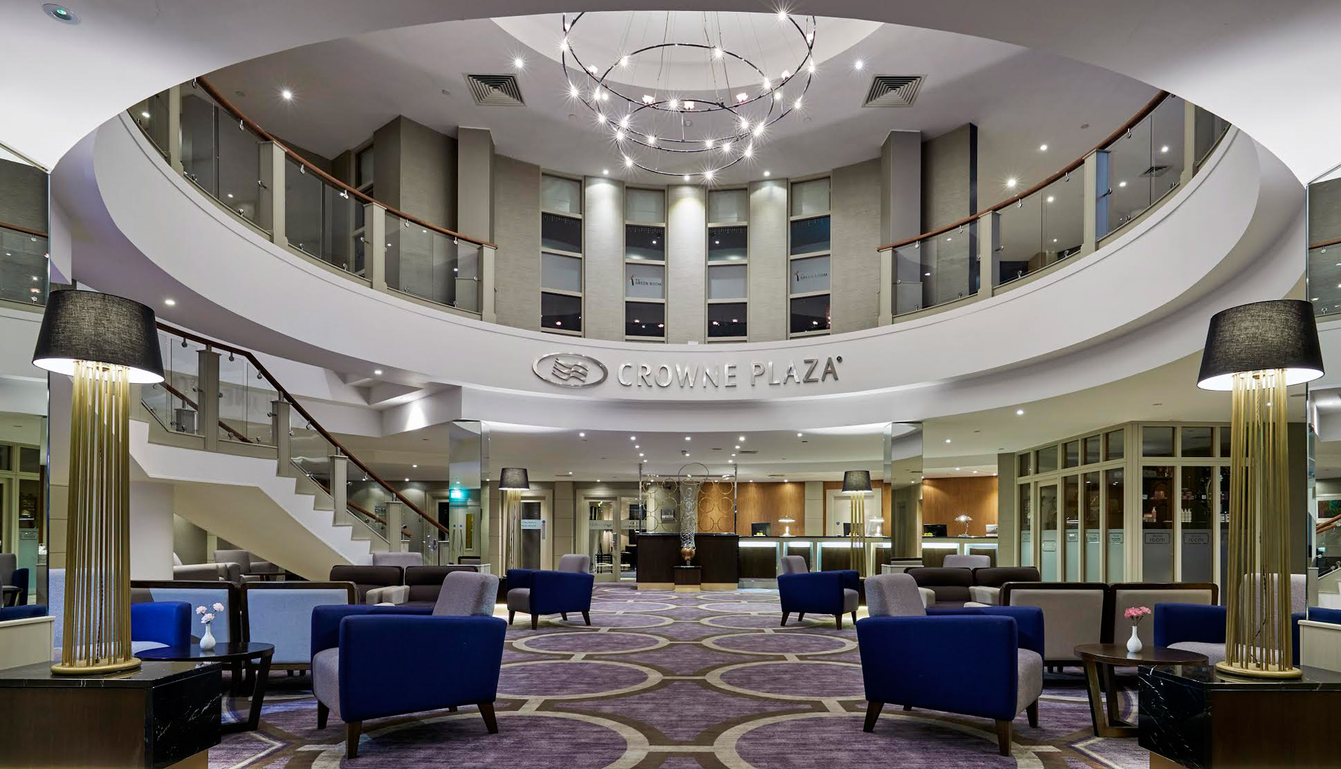 Our Banjul floor lamps add luxury to the Crowne Plaza Belfast