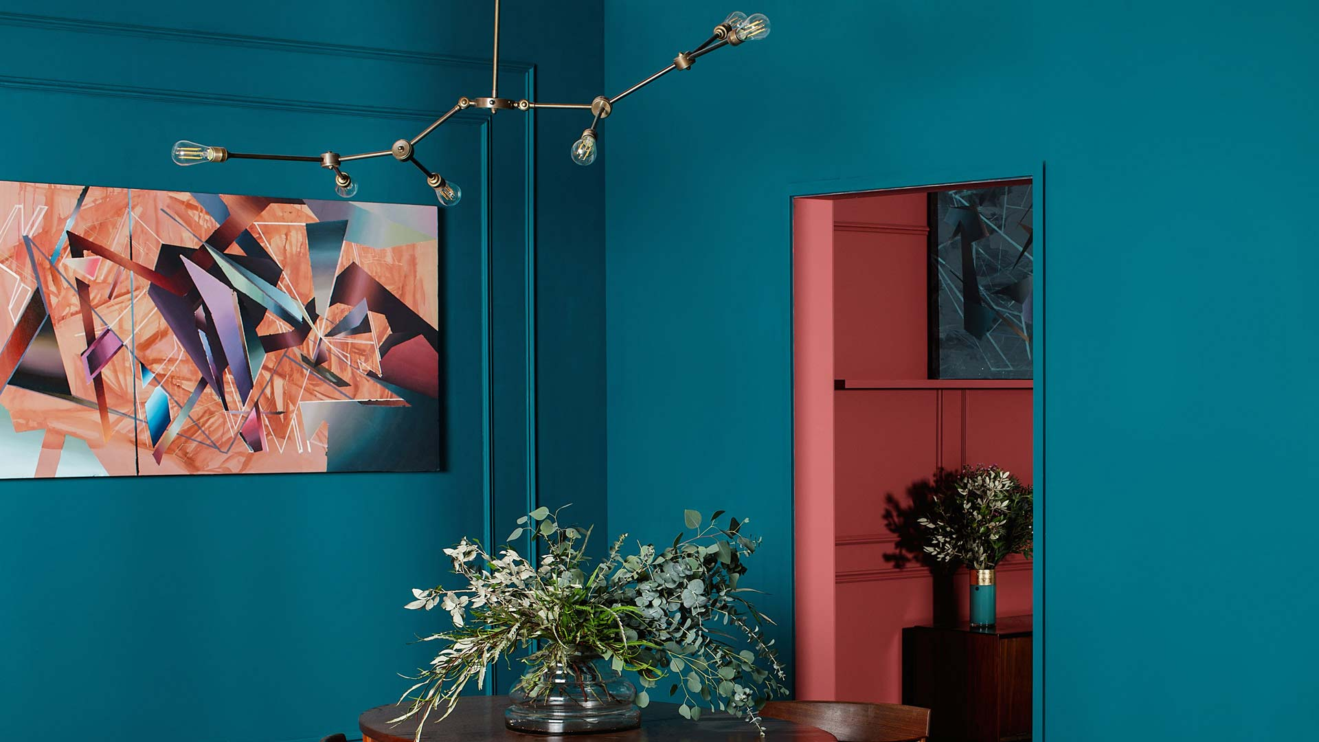Our Ottawa chandelier features in this Fleetwood Paints colour setting