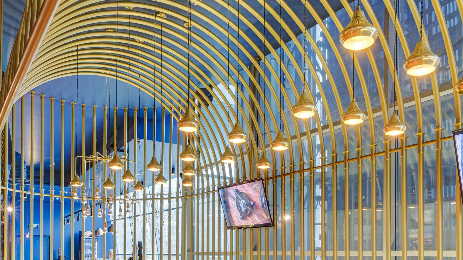 Our Moroccan pendants enhance the spectacular décor of Burger&Pizzetta restaurant, Moscow