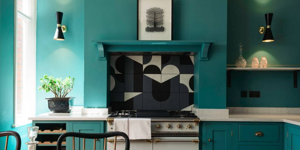 Our Cairo wall lights feature in this mid-century modern kitchen
