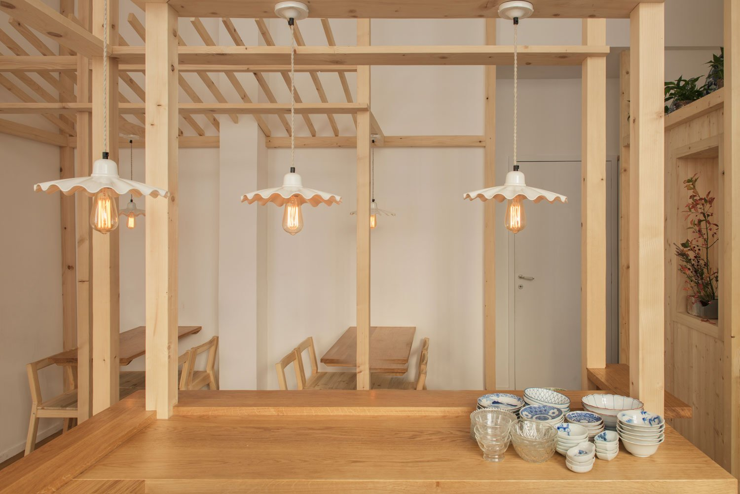 Our Ardle pendant lights enhance the authenticity of this Japanese restaurant