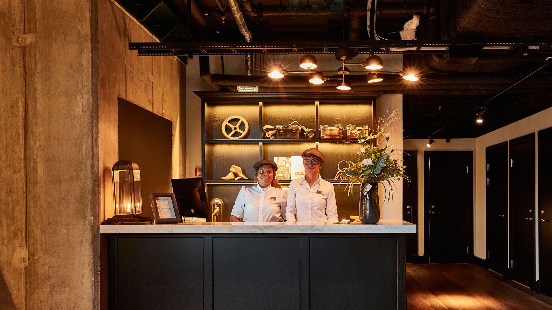 Our industrial lights enhance the industrial décor of The Steam Hotel, Sweden