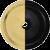 Powder-Coated Matte Black / Polished Brass
