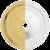 Powder-Coated White / Polished Brass