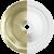 White / Satin Brass Inner